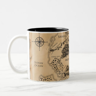 Ilyon Chronicles Map - 11 oz Two-Tone Mug