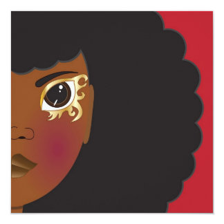 I'Lythia (Red) 5.25x5.25 Square Paper Invitation Card