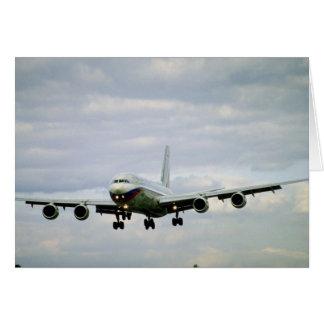ILYUSHIN 96m, airliner, Russia Greeting Card
