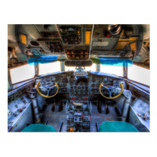 Ilyushin IL-18 Cockpit Postcard