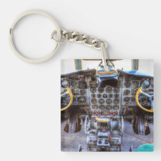 Ilyushin IL-18 Cockpit View Keychain
