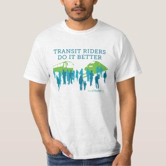"IM4Transit.org -- ""Transit Riders Do It Better"" T-shirt"