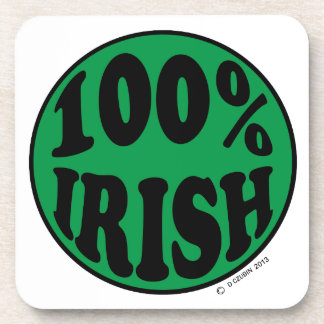 I'm 100 Irish Beverage Coaster