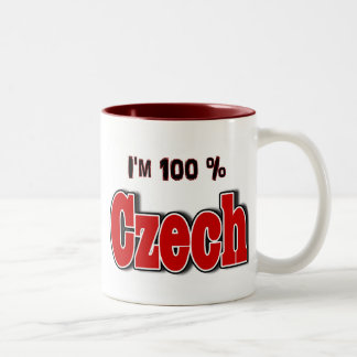 I'm 100 Percent Czech Two-Tone Coffee Mug