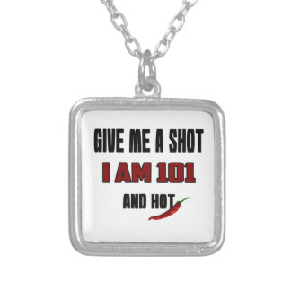I'm 101 and hot square pendant necklace