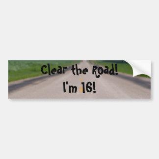 I'm 16 car bumper sticker