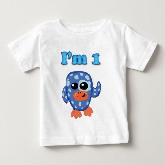 I'm 1 Blue baby penguin shirt
