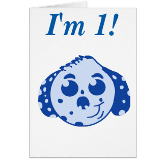 I'm 1 blue Puppy Card