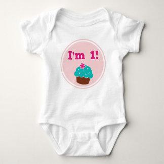 I'm 1 Cupcake Birthday Baby Bodysuit