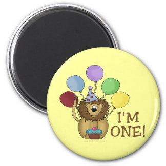 I'm 1 (lion) 2 inch round magnet