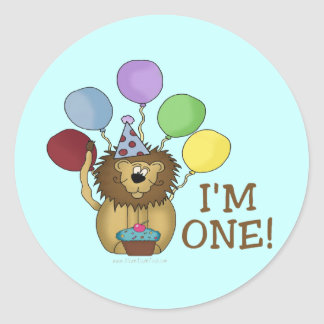 I'm 1 (lion) classic round sticker