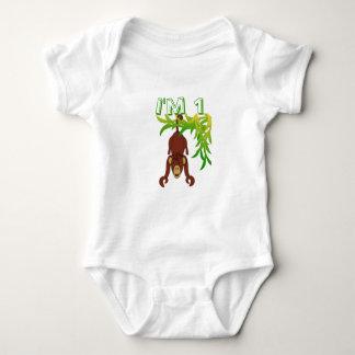 I'm 1, Monkey Baby Bodysuit