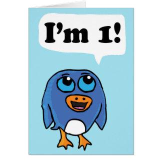I'm 1 Penguin Birthday Card