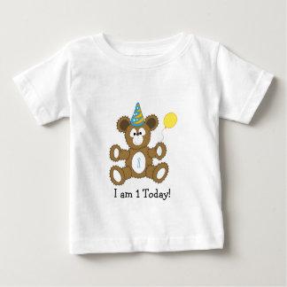 I'm 1 today! First Birthday Bear BOY Baby T-Shirt