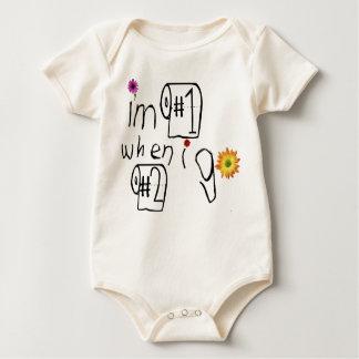 I'm #1 When I Go #2! Baby Bodysuit