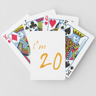 I'm 20 bicycle playing cards