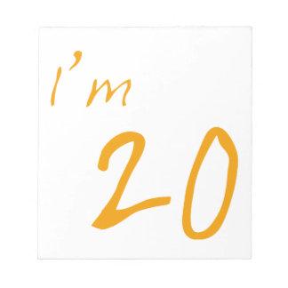 I'm 20 memo pads