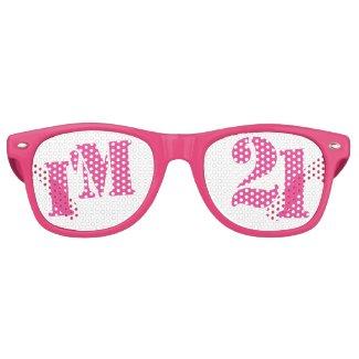 I'm 21 - 21st Birthday Party Glasses Gag Gift Retro Sunglasses