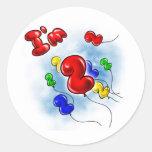 I'm 2 Balloons! Round Sticker