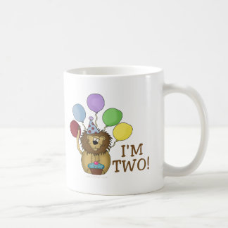 I'm 2 (lion) classic white coffee mug