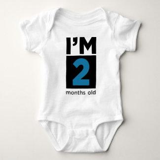 I'm 2 Months Old Blue Baby Bodysuit