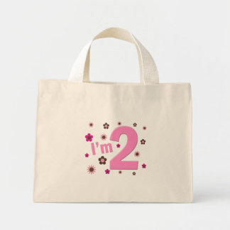 """""""I'm 2"""" Pink & Brown Flowers Bags"""