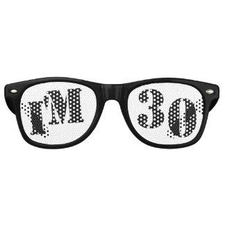 I'm 30 - 30th Birthday Party Glasses Gag Gift Retro Sunglasses