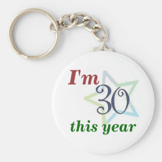 I'm 30 this year keychain