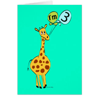 I'm 3 3rd Birthday Card