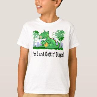 I'm 3 and Getting Bigger Dinosaur T-shirt