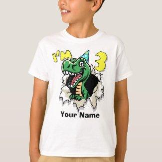 I'm 3 Dinosaur T-Shirt