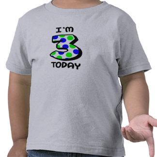 I'm 3 Today Boys Birthday Shirt
