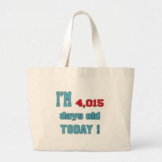 I'm 4015 days old today ! jumbo tote bag