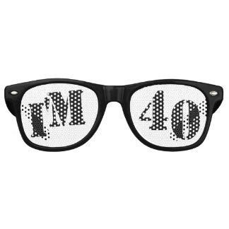 I'm 40 - 40th Birthday Party Glasses Gag Gift Wayfarer Sunglasses