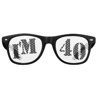 I'm 40 - 40th Birthday Party Glasses Gag Gift Retro Sunglasses