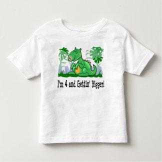 I'm 4 and Getting Bigger Dinosaur T-shirt