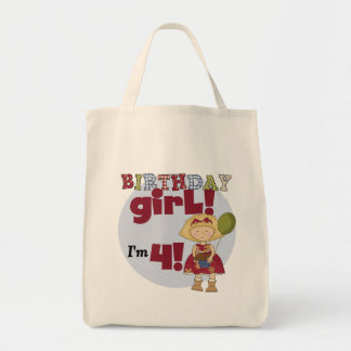 I'm 4 Birthday Girl T-shirts and Gifts Tote Bag