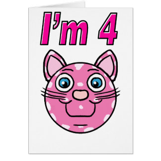 I'm 4 Pink Kitty Card