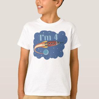 I'm 4 Rocketship Birthday T-shirt