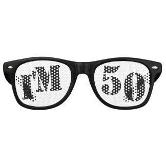I'm 50 - 50th Birthday Party Glasses Gag Gift Retro Sunglasses