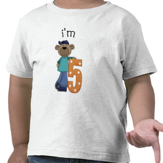 Im 5 Birthday Bear Tshirts