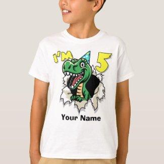 I'm 5 Dinosaur T-Shirt