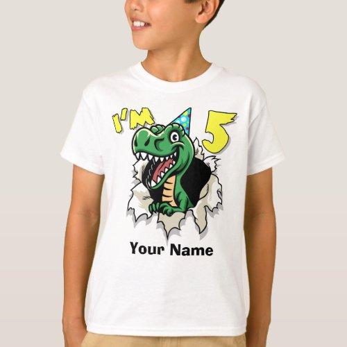 Im 5 Dinosaur T_Shirt