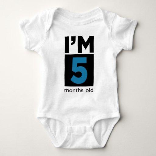 I'm 5 Months Old Blue Shirts
