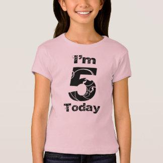 I'm 5 Today Girls Birthday Shirt