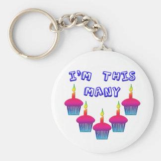 I'm 5 Years Old Keychain