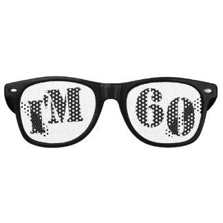 I'm 60 - 60th Birthday Party Glasses Gag Gift Retro Sunglasses