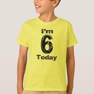 I'm 6 Today Girls Birthday Shirt