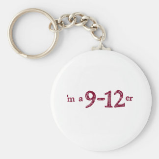 I'm a 9-12er basic round button keychain