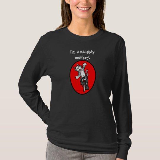 I'm a Bad Naughty Evil Monkey - Riding Unicycle T-Shirt